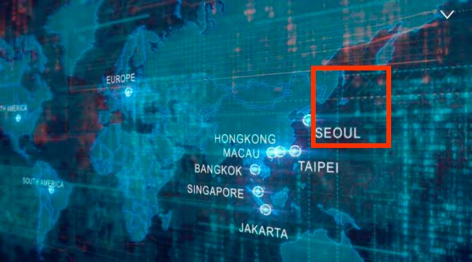 韓国地図_日本が消えている
