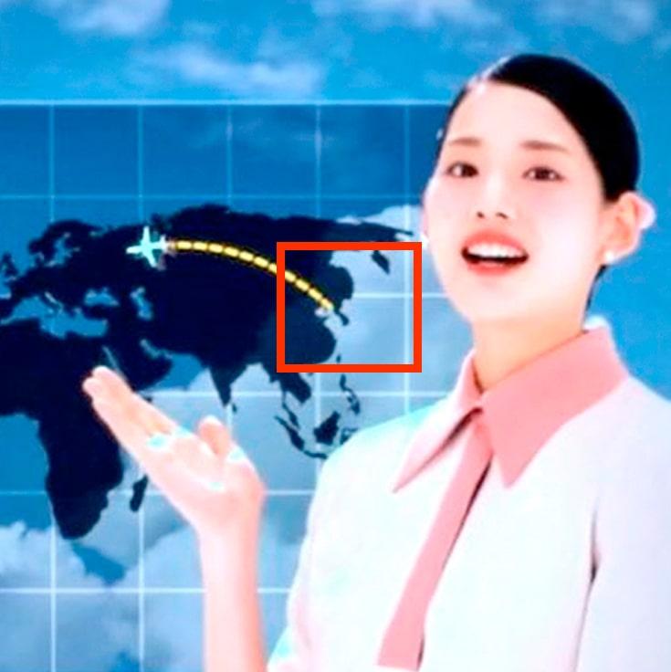 東方神起_韓国地図_日本が消えている