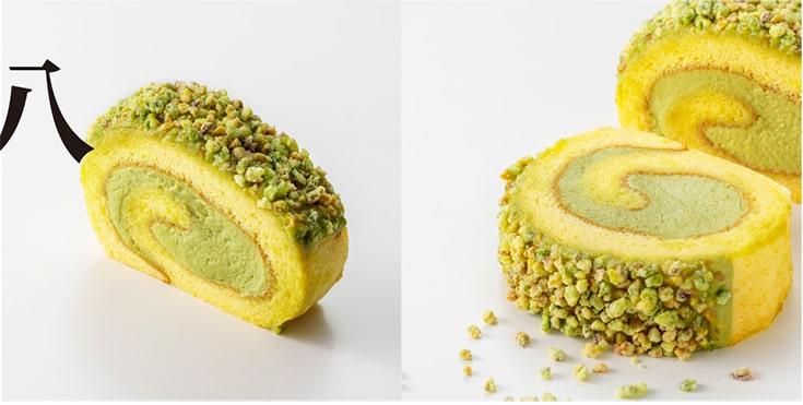 ピスタチオのロールケーキ